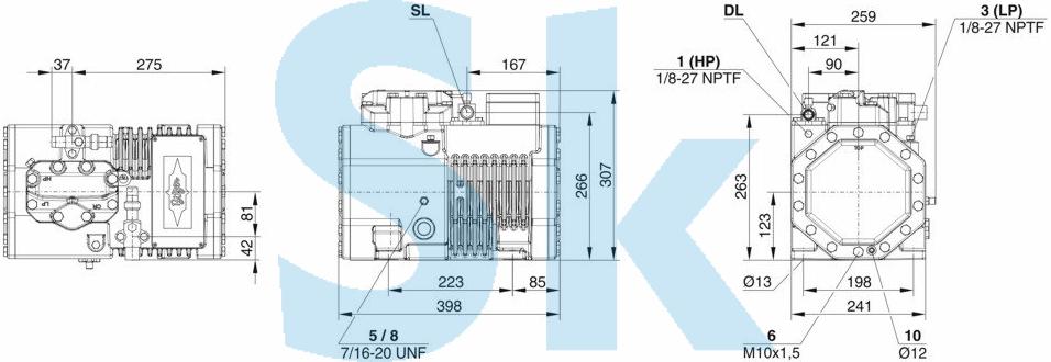 Bitzer 2CES-3Y поршневой компрессор