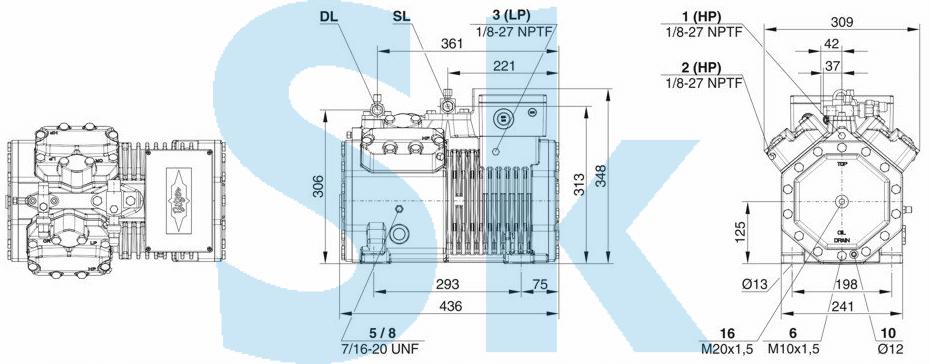 Bitzer 4FES-3Y поршневой компрессор