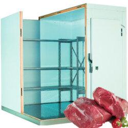 Холодильная камера (0С…+4С) для хранения 8 тонн мяса и мясных продуктов