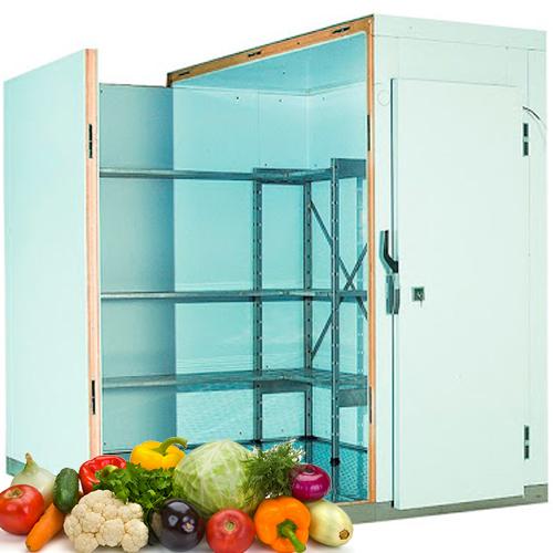 Холодильная камера для хранения 1 тонны овощей