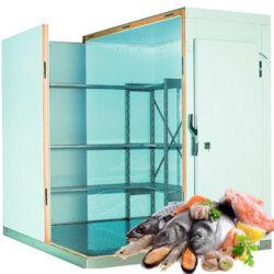 Морозильная камера камера (-16С) для хранения 1 тонны рыбы и морепродуктов